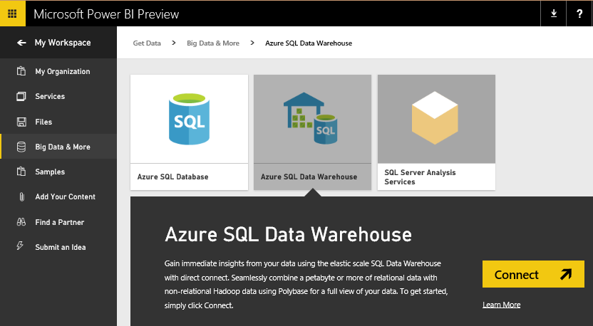 Power BI Data warehouse